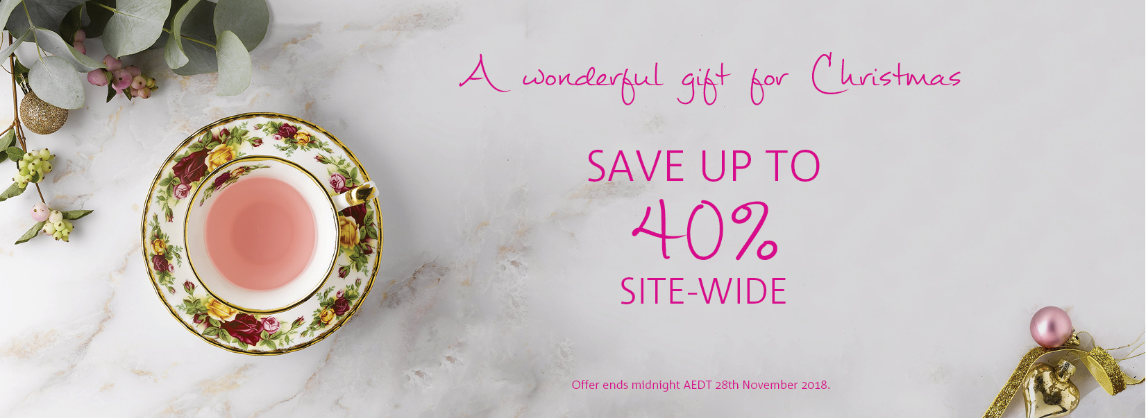 xmas sale up to 40 off sitewide - nov18
