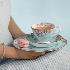 Candy Collection Sitting Pretty Teacup, Saucer, 20cm Plate Set