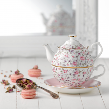 Rose Confetti Tea for One