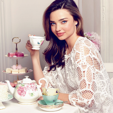 Miranda Kerr Set of 4 Teacups & Saucers