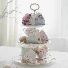 Tea Party Vintage Mix Set of 4 Teacups & Saucers