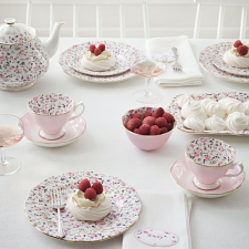 Rose Confetti Teacup/ Saucer/ Plate Set
