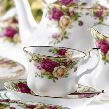 Old Country Roses Teacup, Saucer & Plate set