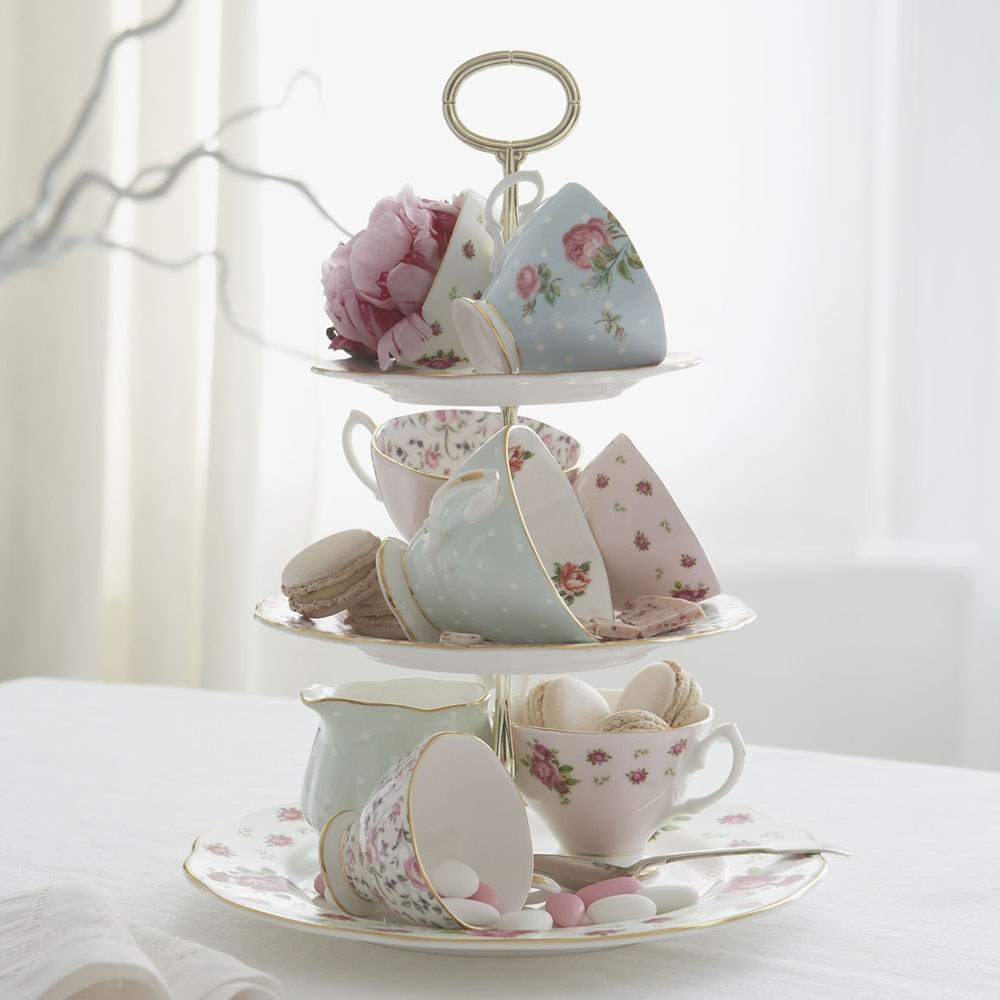 English Tea Party Decorations: Royal Albert Tea Party Vintage Mix Set Of 4 Teacups