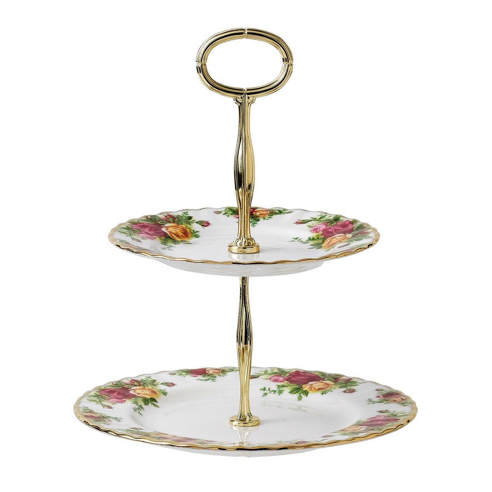 Old Country Roses Cake Stand 2 Tier