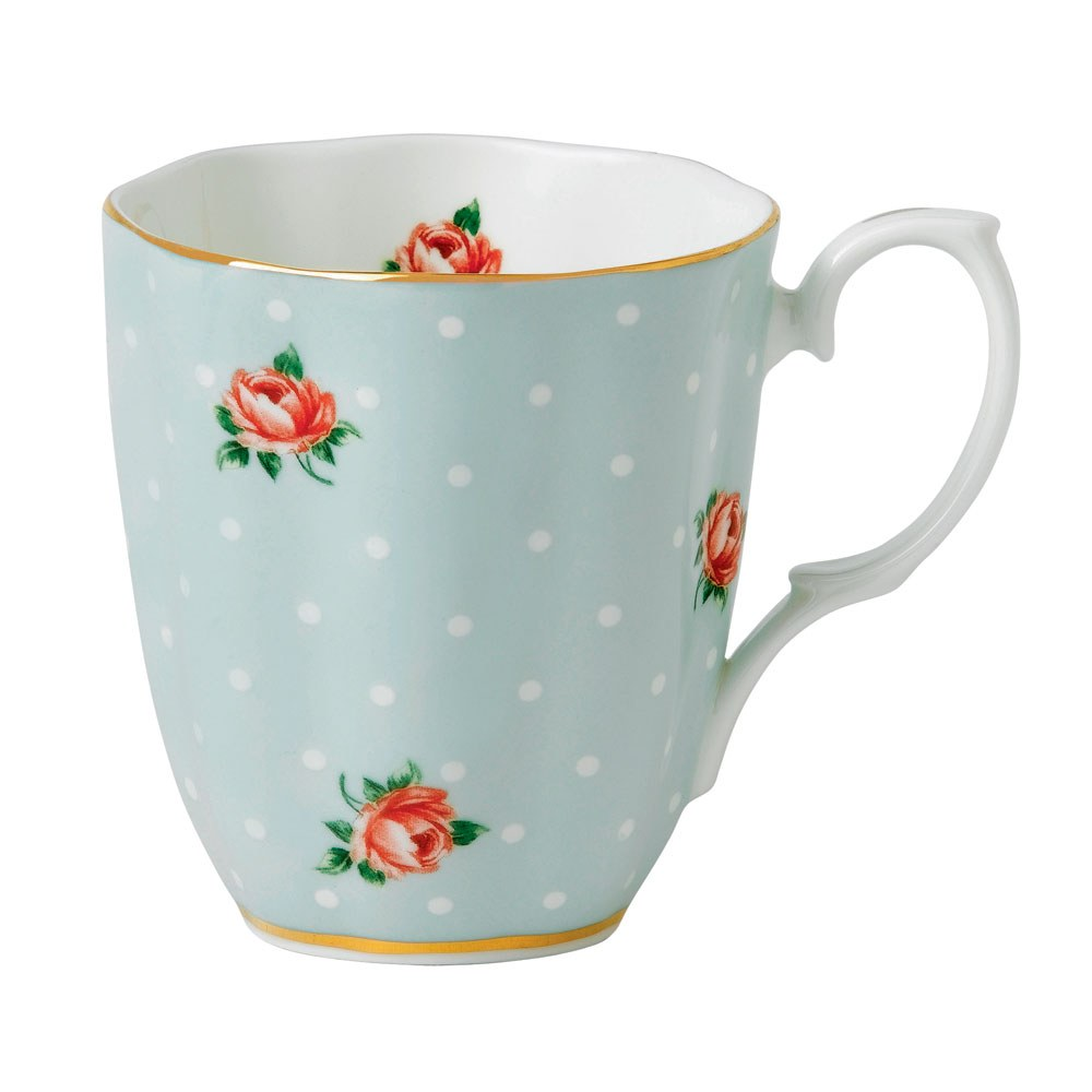 Polka Rose Vintage Mug