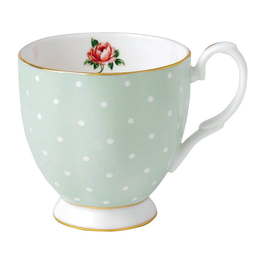 Polka Rose Vintage Mug Small