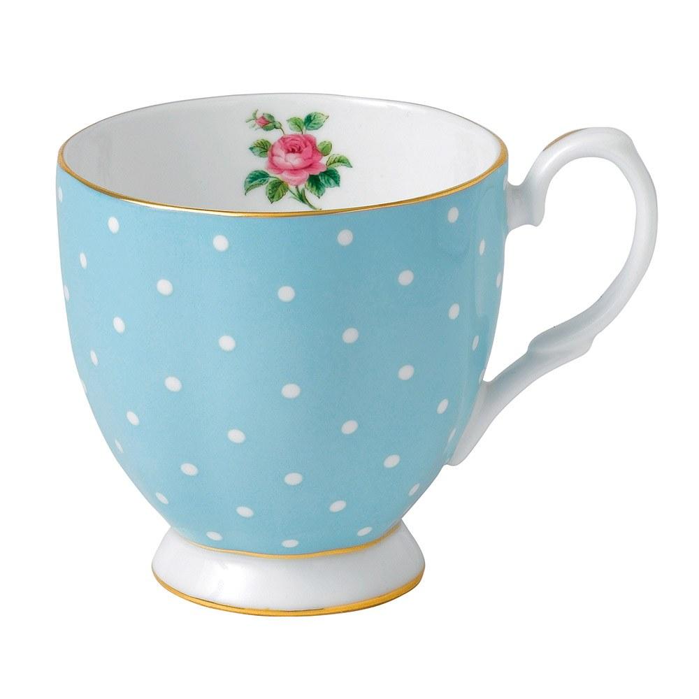 Polka Blue Vintage Mug Small