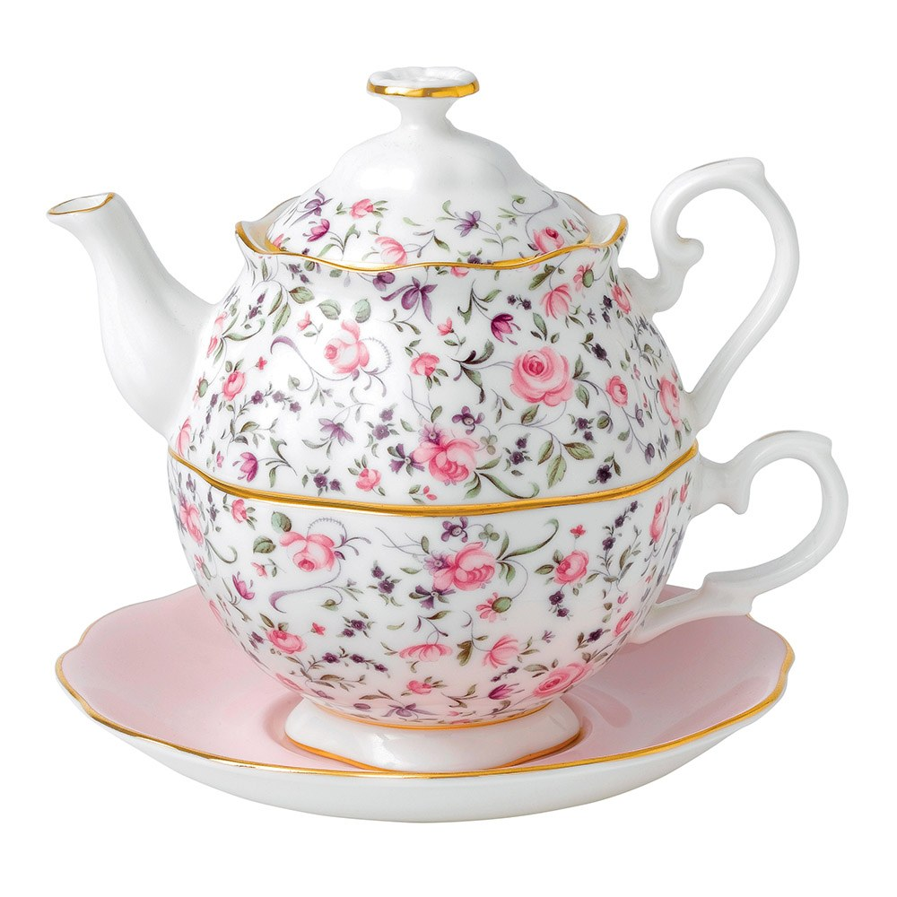 royal albert rose confetti tea for one royal albert australia. Black Bedroom Furniture Sets. Home Design Ideas