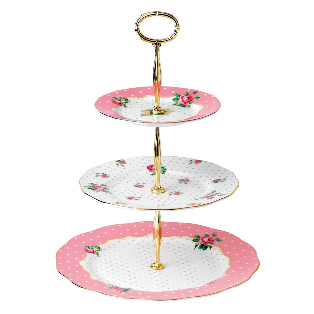 Royal Albert Cheeky Pink 3 Tier Cake Stand Royal Albert