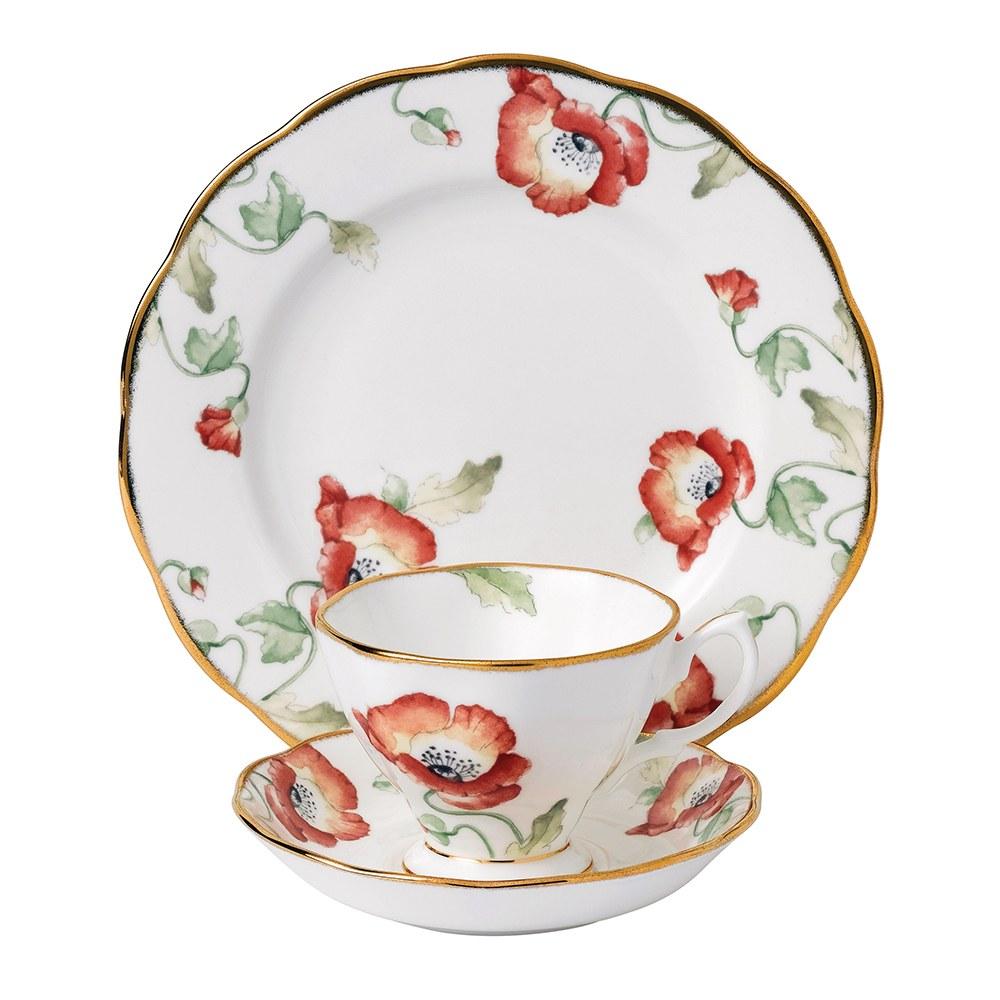 100 Years Teaware Teacup, Saucer, Plate 1970