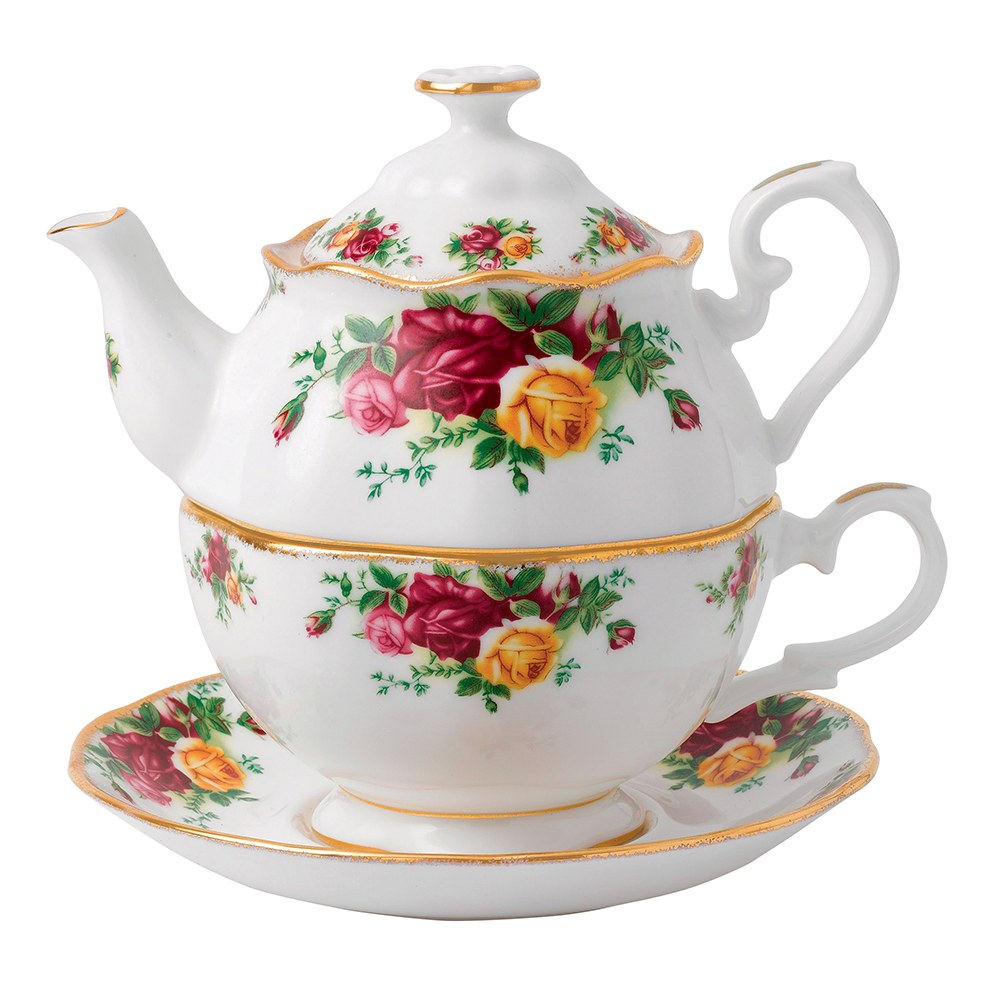 royal albert old country roses tea for one royal albert australia. Black Bedroom Furniture Sets. Home Design Ideas