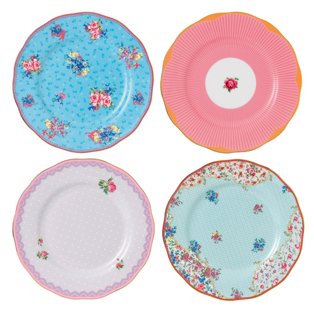 Candy Collection Set of 4 20cm plates