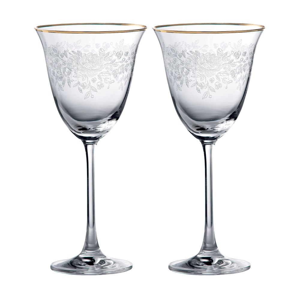 Old Country Roses Wine Glass Pair