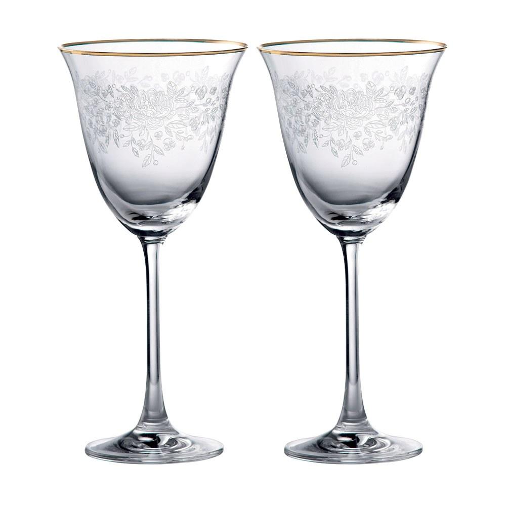 Royal albert old country roses wine glass pair royal - Beaker wine glasses ...