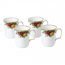 Old Country Roses Mug Set of 4