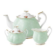 Polka Rose Teapot/ Sugar/ Creamer Set