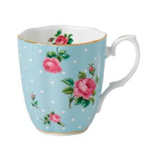 Royal Albert Polka Blue Vintage Mug