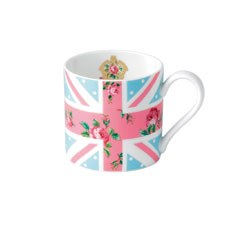Cheeky Pink Union Jack Blue Modern Mug