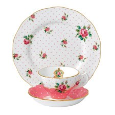 Royal Albert Cheeky Pink Teacup, Saucer, Plate