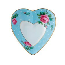 Royal Albert Interior Gift Polka Blue Heart Tray