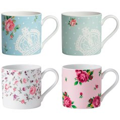 Tea Party Set of 4 Casual Mugs