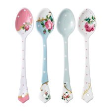 Royal Albert Tea Party Vintage Mix Set of 4 Ceramic Spoons