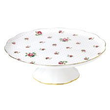 Tea Party Pink Roses Large Cake Stand