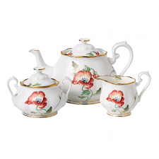 Royal Albert 100 Years Teaware 1970 Teapot/Sugar/Creamer Set