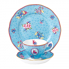 Royal Albert Candy Collection Honey Bunny Teacup, Saucer, 20cm Plate Set