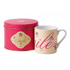 Royal Albert Mug in Tin Smile 9cm x 8cm