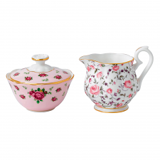 Royal Albert Breakfast Tea Party Mini Sugar and Creamer