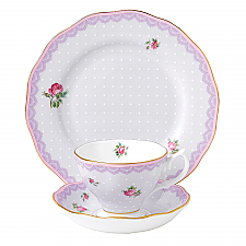 Candy Collection Love Lilac Teacup, Saucer, 20cm Plate Set