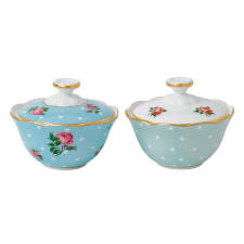 Breakfast Tea Party Condiment Pot Pair
