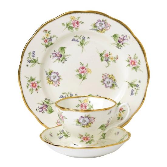 100 Years Teaware Teacup, Saucer, Plate 1920