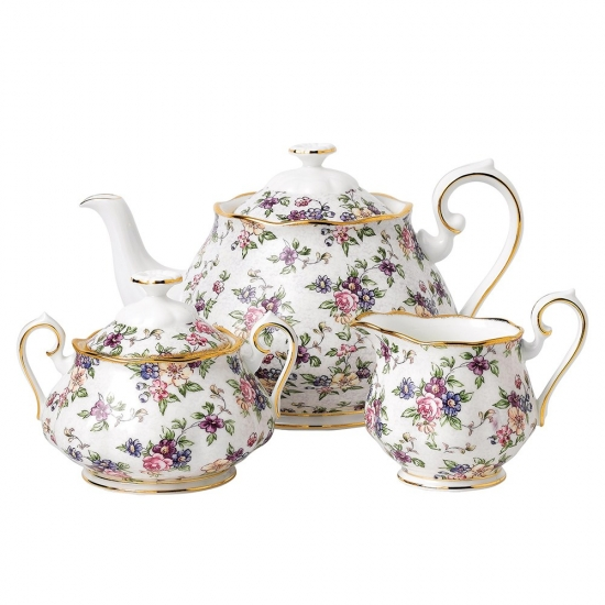 100 Years Teaware 1940 Teapot/Sugar/Creamer Set