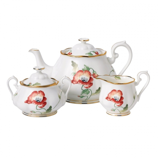 100 Years Teaware 1970 Teapot/Sugar/Creamer Set