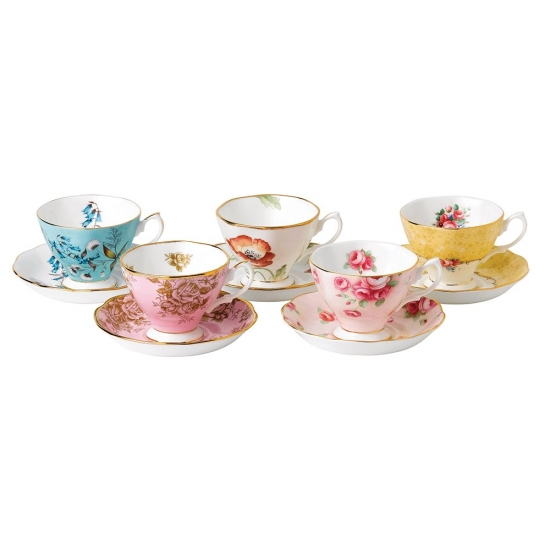 100 Years Teaware 10 Piece Set Cup & Saucer 1950-1990