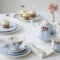 Polka Blue Teapot/ Sugar/ Creamer Set