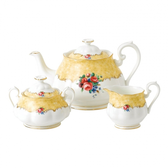 100 Years 1990 Teapot, Cream & Sugar