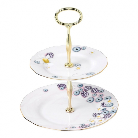 Alpha Foodie 2 Tier Cake Stand Pink