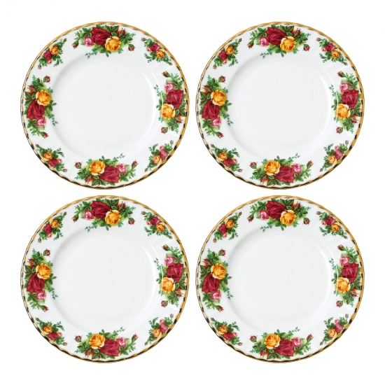 Old Country Roses Plate 20cm Set of 4
