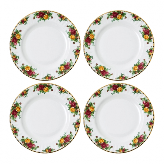 Old Country Roses Plate 27cm Set of 4