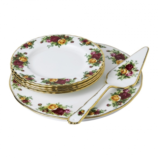 Old Country Roses 6 Piece Cake Server Set