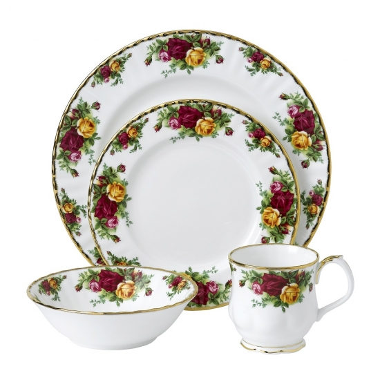 Old Country Roses 4 Piece Set