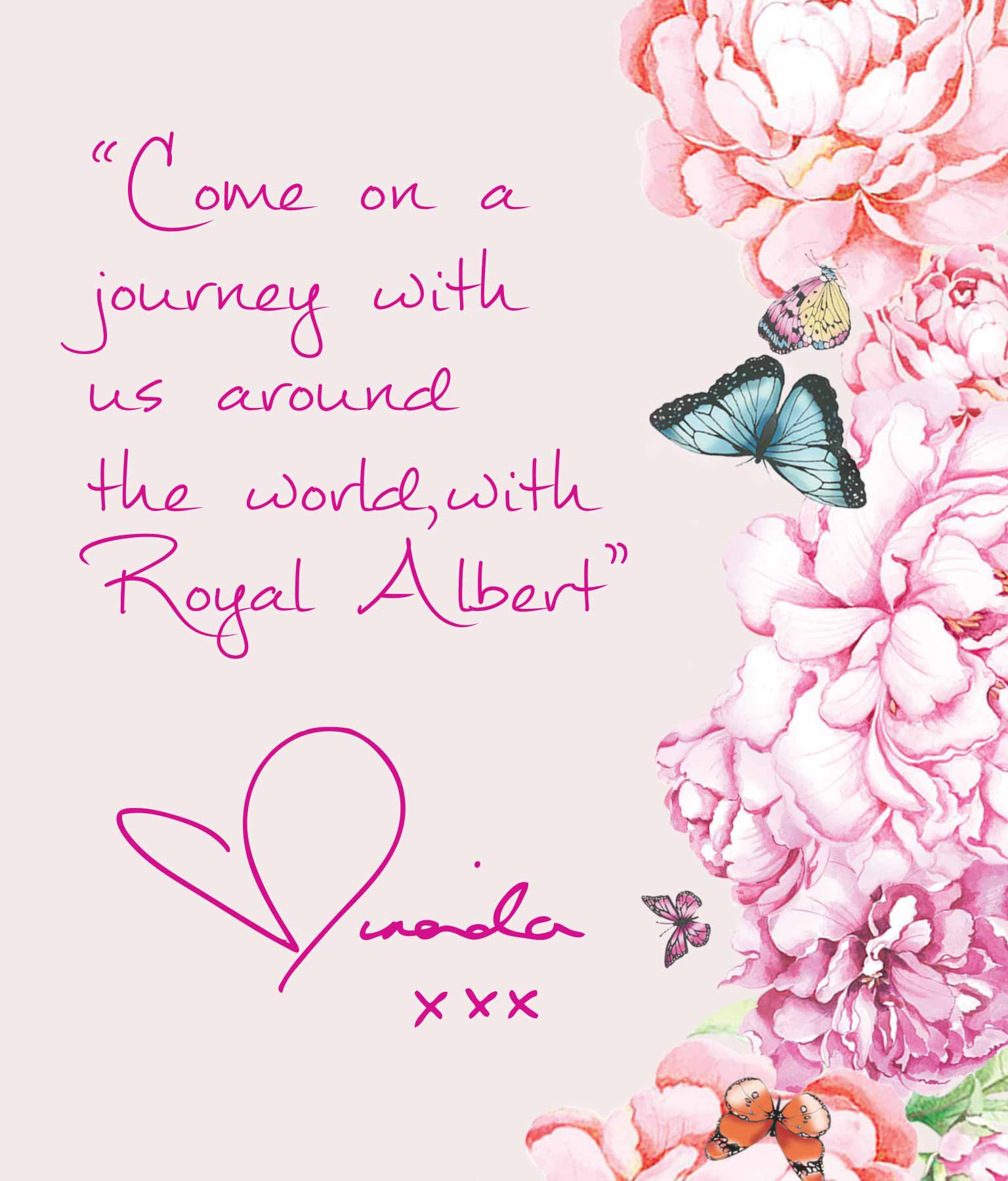 Come on a journey with us around the world, with Royal Albert - Miranda xxx