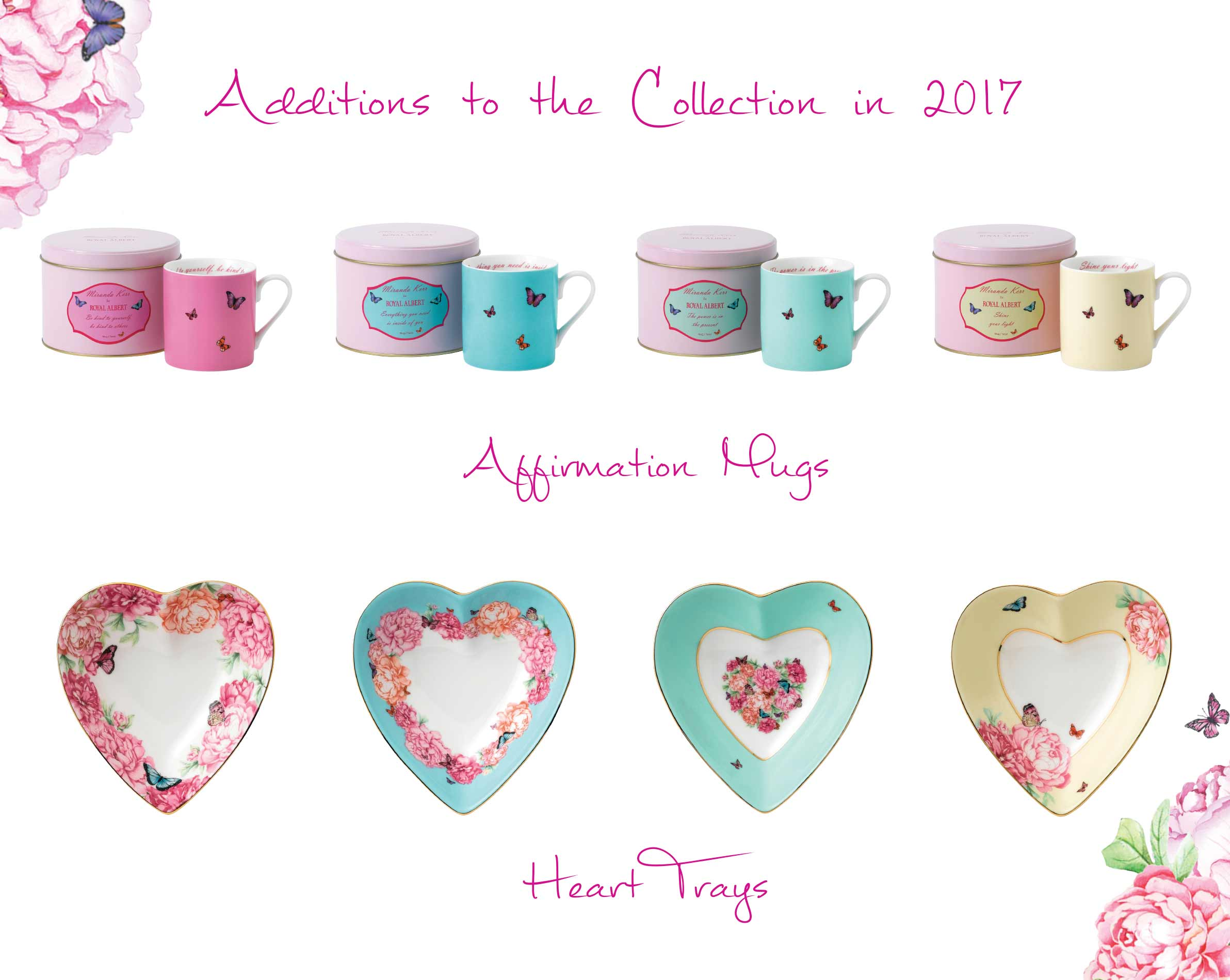 Additions to the Collection in 2017: Affirmation Mugs & Heart Trays